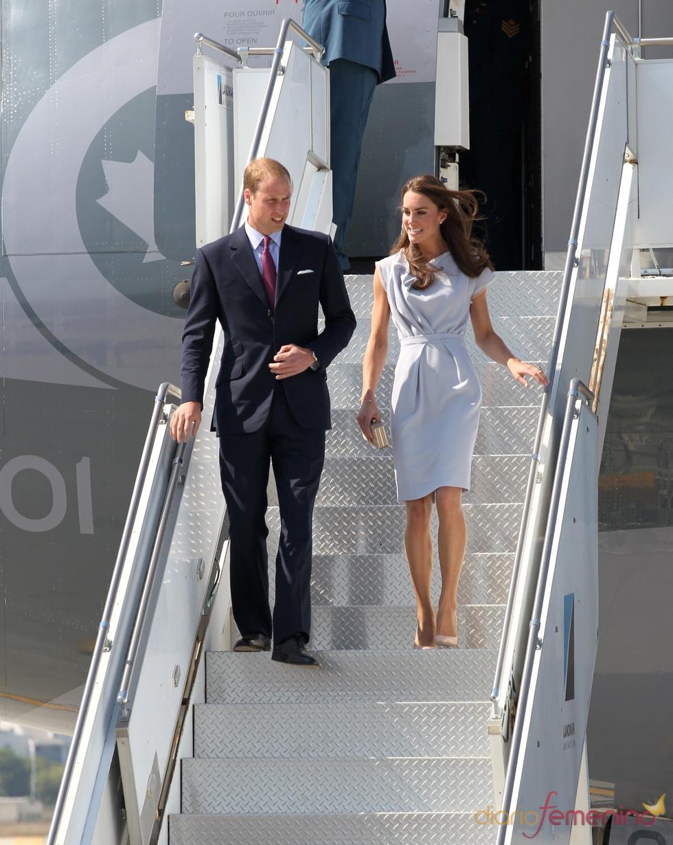 Guillermo de Inglaterra y Kate Middleton llegan a Los Ángeles