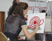 Kate Middleton pinta un caracol en Los Ángeles
