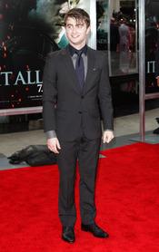 Daniel Radcliffe en el estreno de 'Harry Potter y las reliquias de la muerte. Parte 2' en Nueva York