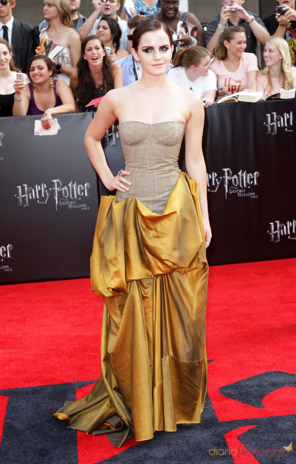 Emma Watson en el estreno de 'Harry Potter y la reliquias de la muerte. Parte 2' en Nueva York