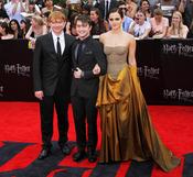 Rupert Grint, Daniel Radcliffe y Emma Watson en el estreno de 'Harry Potter y las reliquias de la muerte. Parte 2' en Nueva York