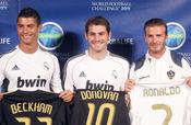 Cristiano Ronaldo, Iker Casillas y David Beckham en Los Ángeles