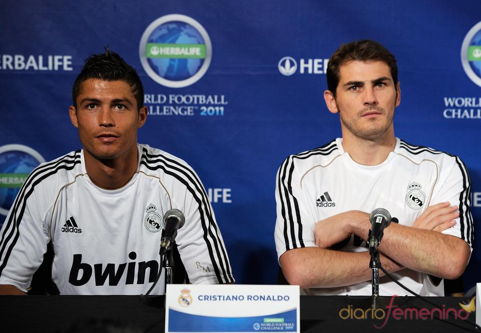 Iker Casillas y Cristiano Ronaldo en Los Ángeles