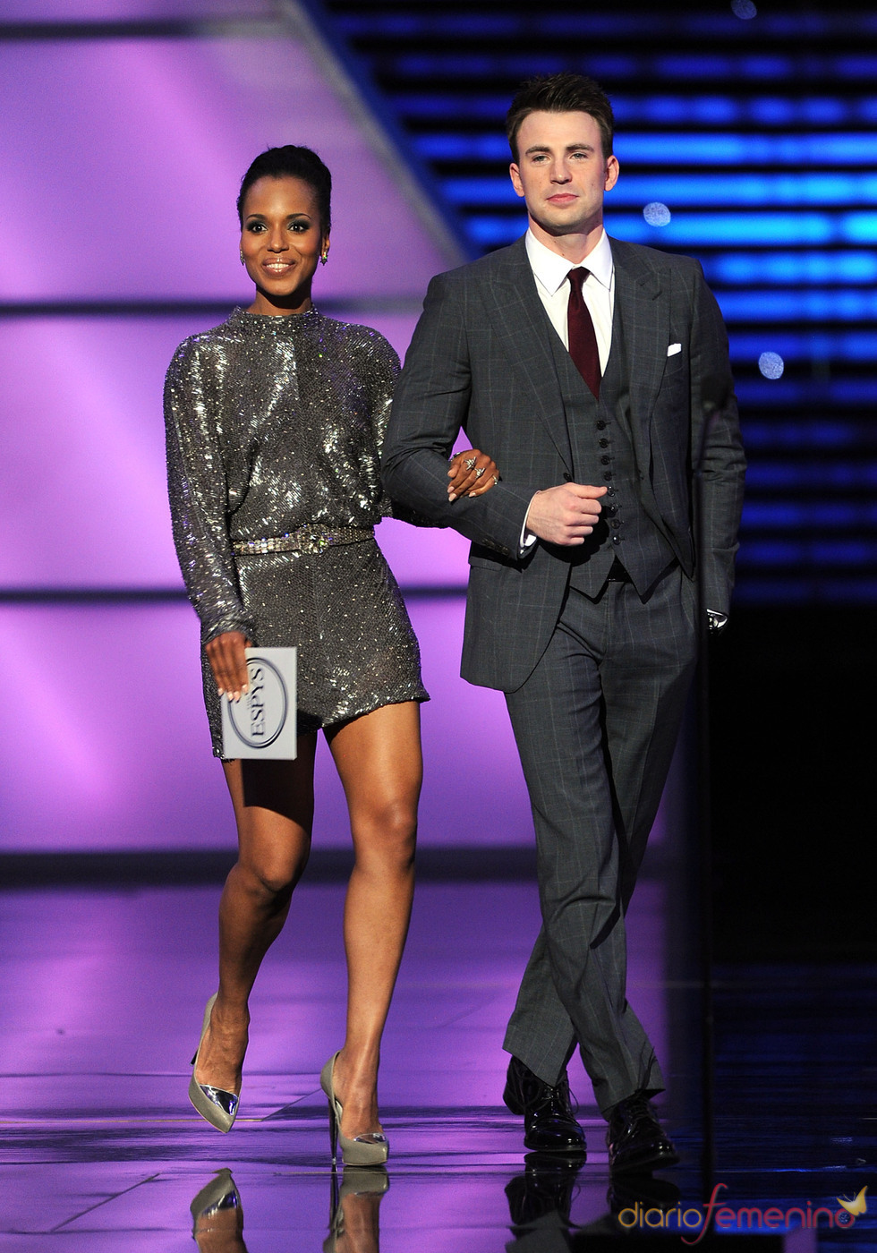 Chris Evans y Kerry Washington en los ESPY Awards de 2011