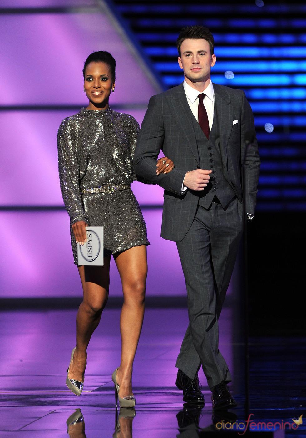 Chris Evans y Kerry Washington en los ESPY Awards de 2011