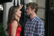 Liz Hurley y Chace Crawford graban la quinta temporada de 'Gossip Girl'