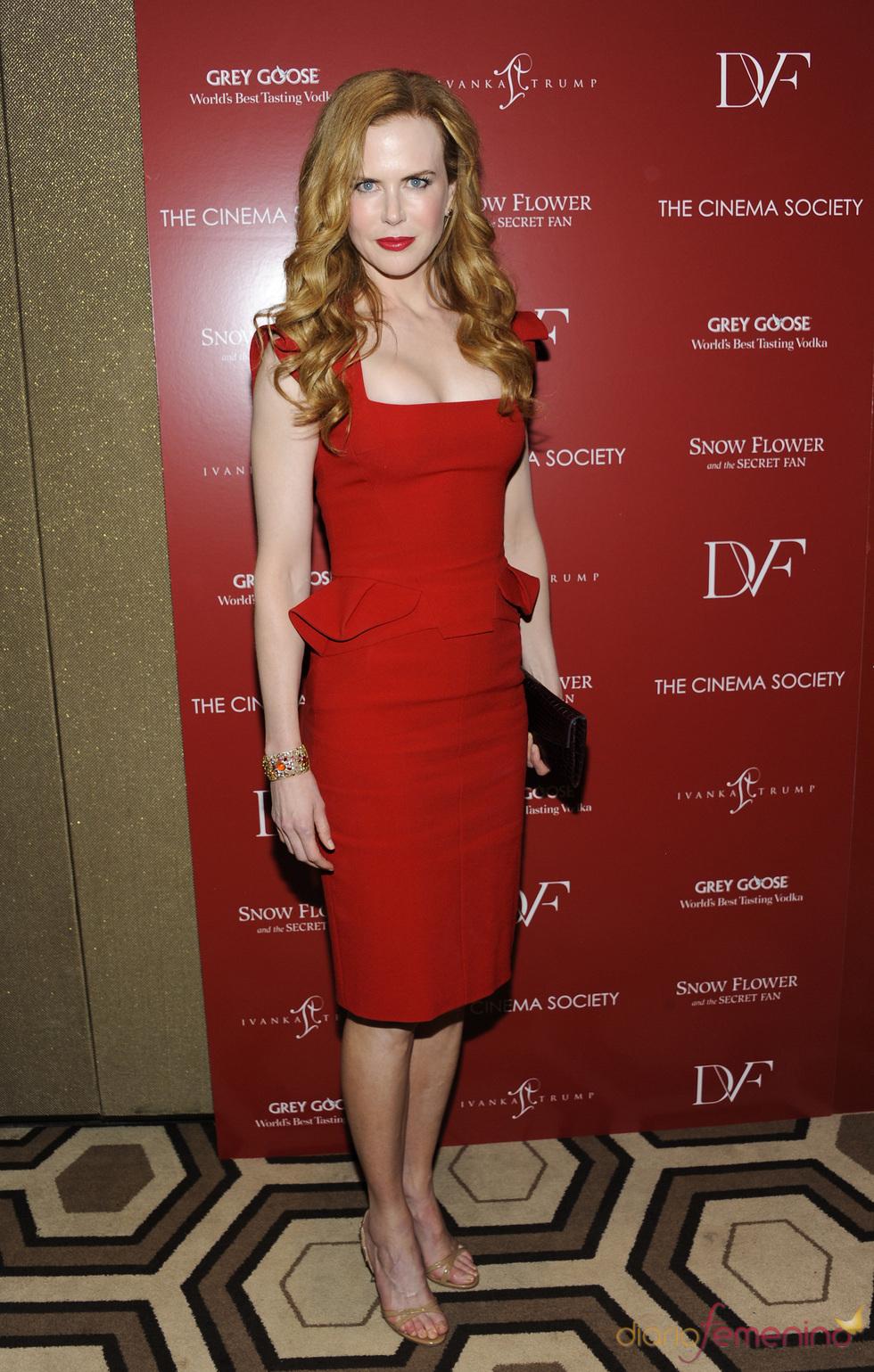 Nicole Kidman en el estreno de 'Snow Flower' en Nueva York