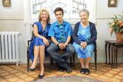 Ana Duato, Ricardo Gómez y Pilar Punzano en la presentación de la 13 temporada de 'Cuéntame'
