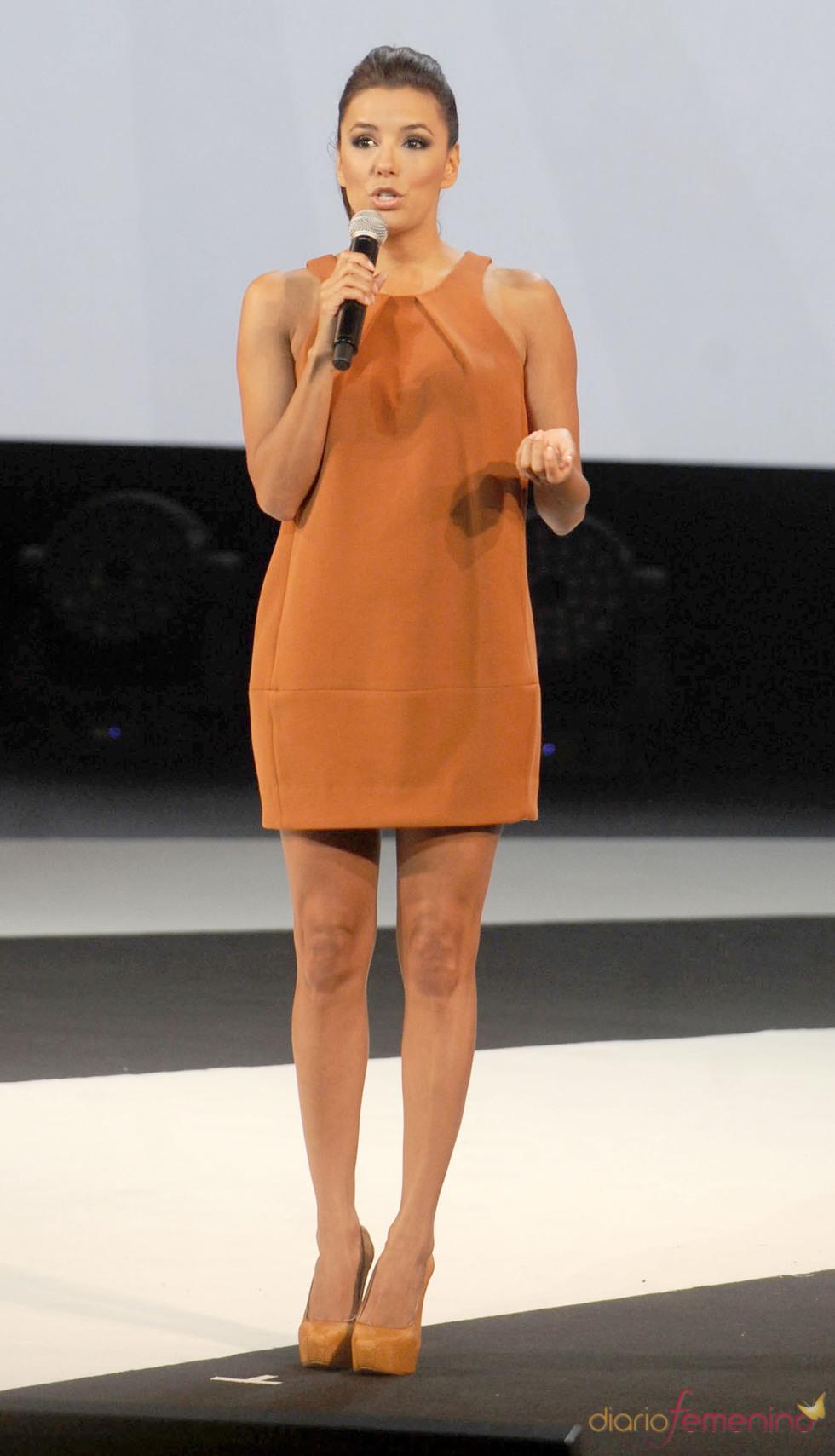 Eva Longoria durante la presentación de un premio tecnológico en Nueva York