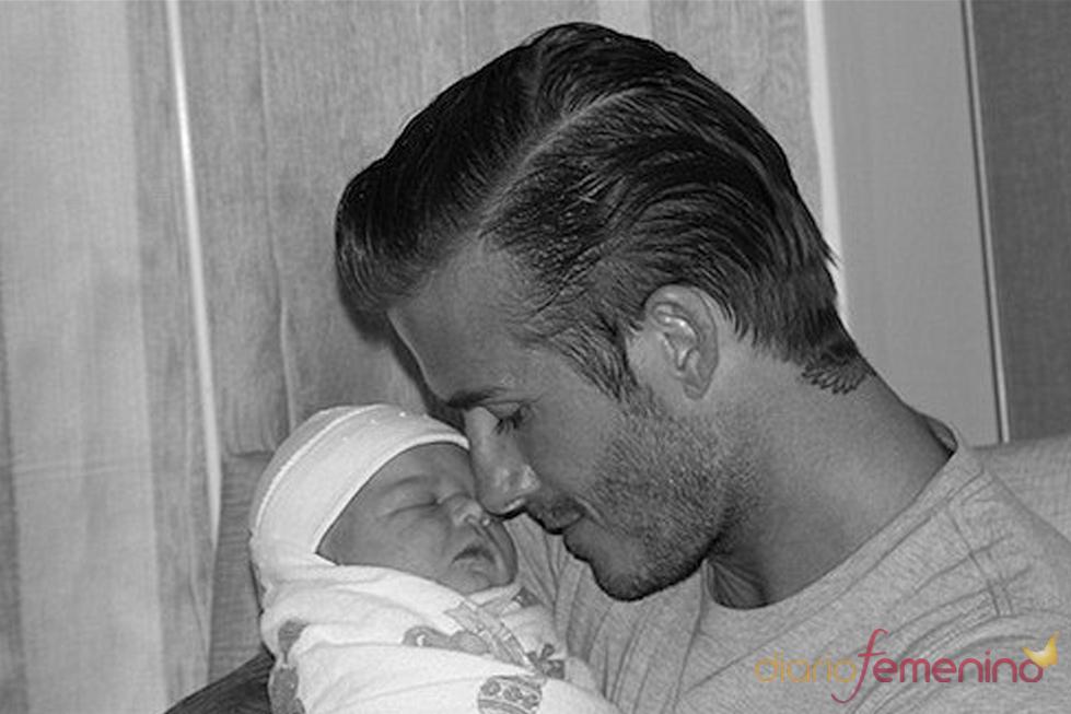David Beckham con su hija Harper Seven