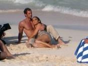 Jennifer López y William Levy durante el rodaje del videoclip 'I'm into you'