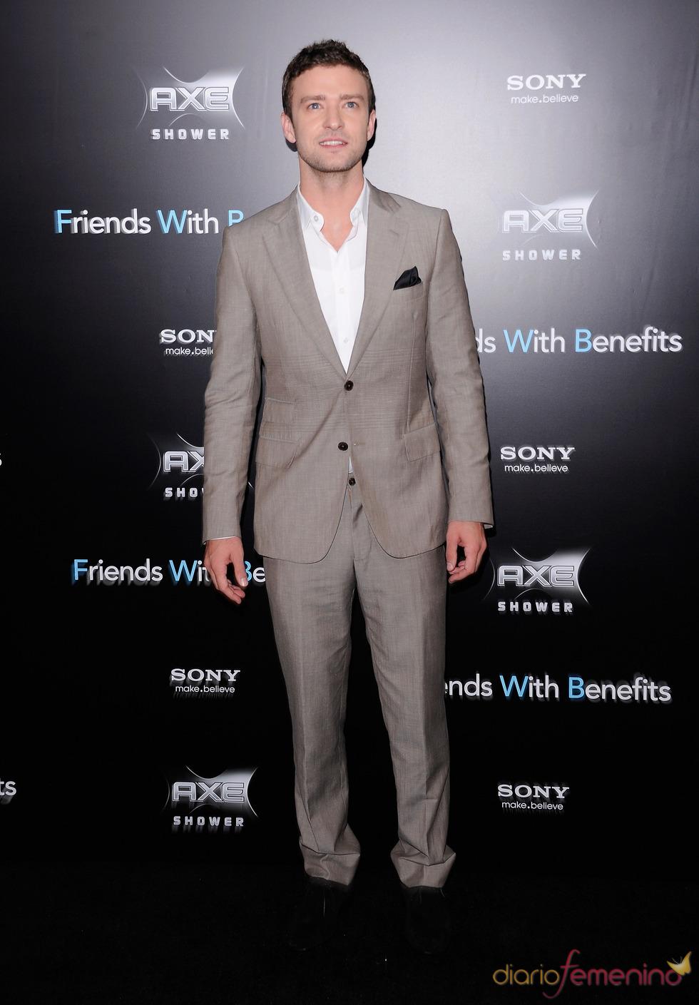 Justin Timberlake en el estreno de 'Amigos con beneficios' en Nueva York