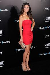 Emmanuelle Chriqui en el estreno de 'Amigos con beneficios' en Nueva York