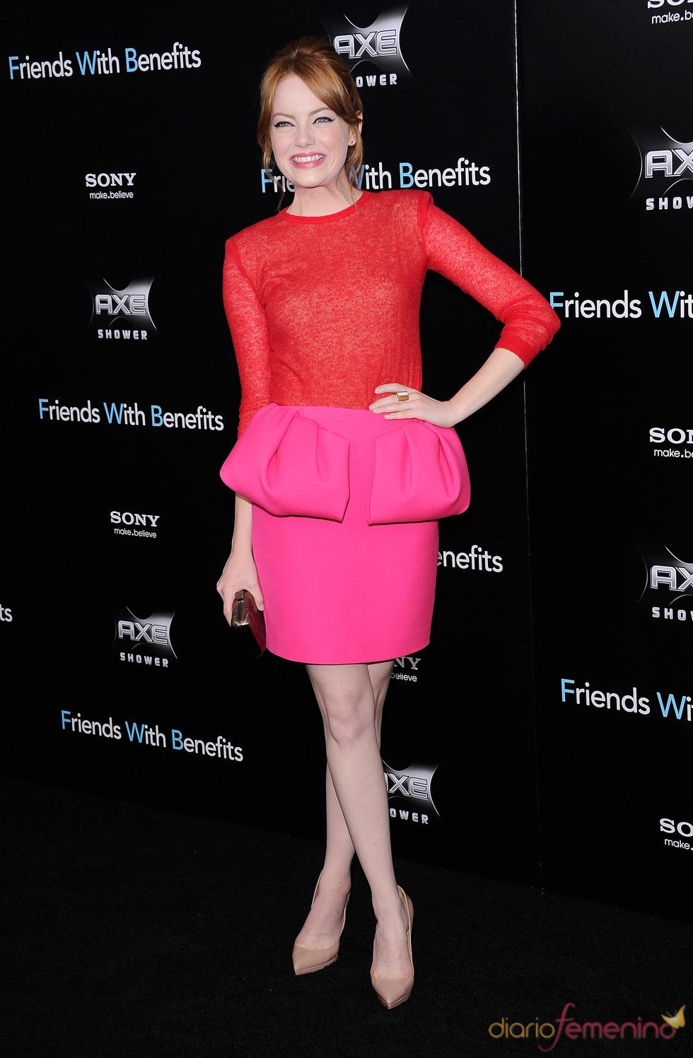 Emma Stone en el estreno de 'Amigos con beneficios' en Nueva York