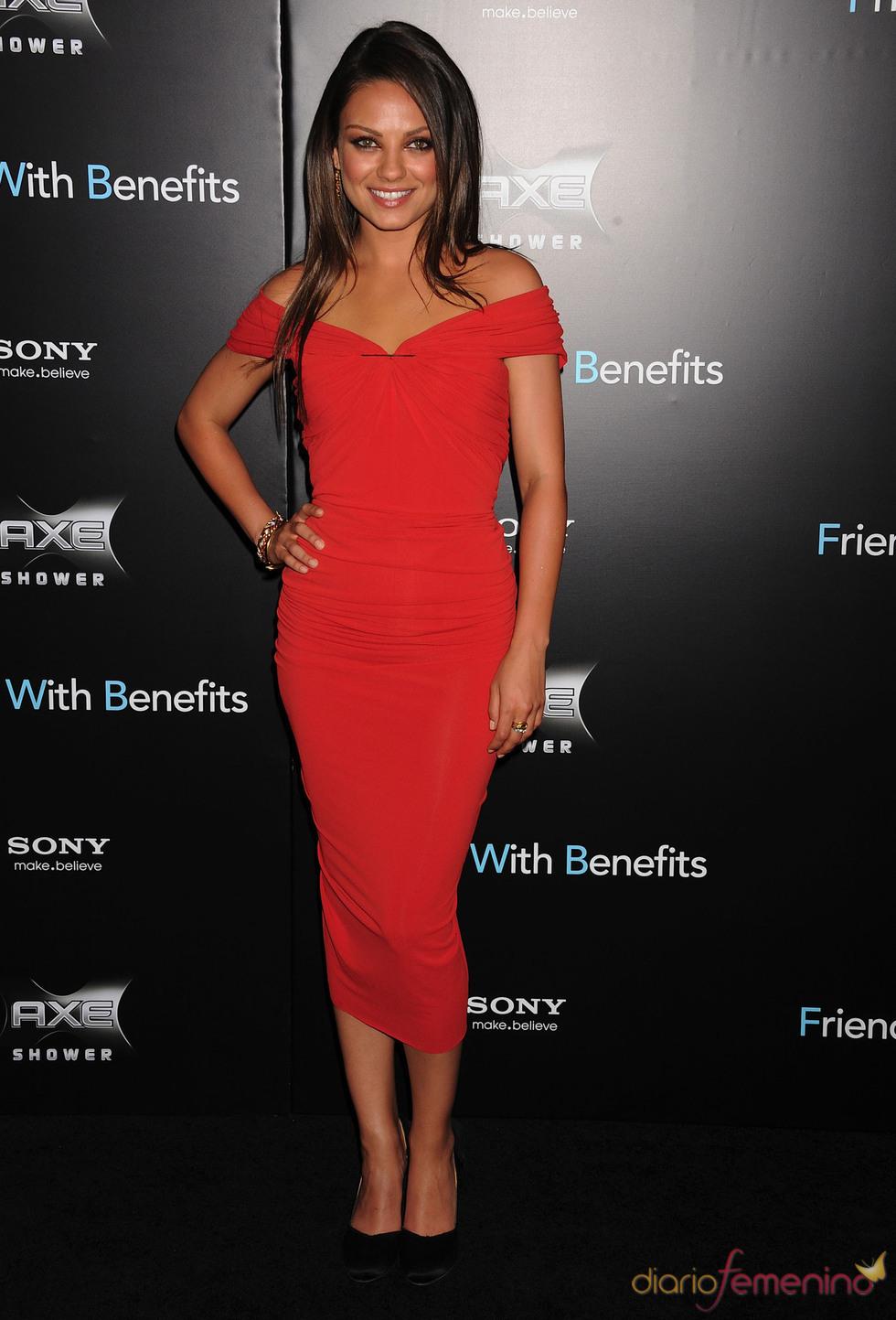 Mila Kunis en el estreno de 'Amigos con beneficios' en Nueva York