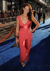 Amanda Righetti en el estreno de 'Capitán América: el primer vengador' en Los Ángeles