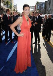 Jaimie Alexander en el estreno de 'Capitán América: el primer vengador' en Los Ángeles