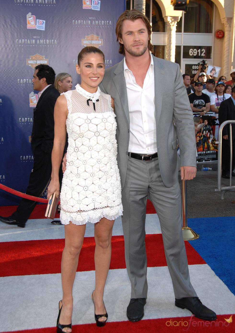 Chris Hemsworth y Elsa Pataky en el estreno de 'Capitán América: el primer vengador' en Los Ángeles