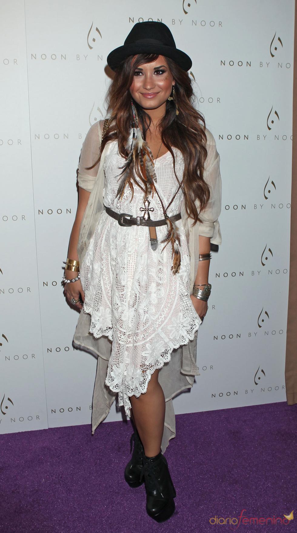 Demi Lovato en la fiesta de lanzamiento de la nueva colección de 'Noon by Noor'