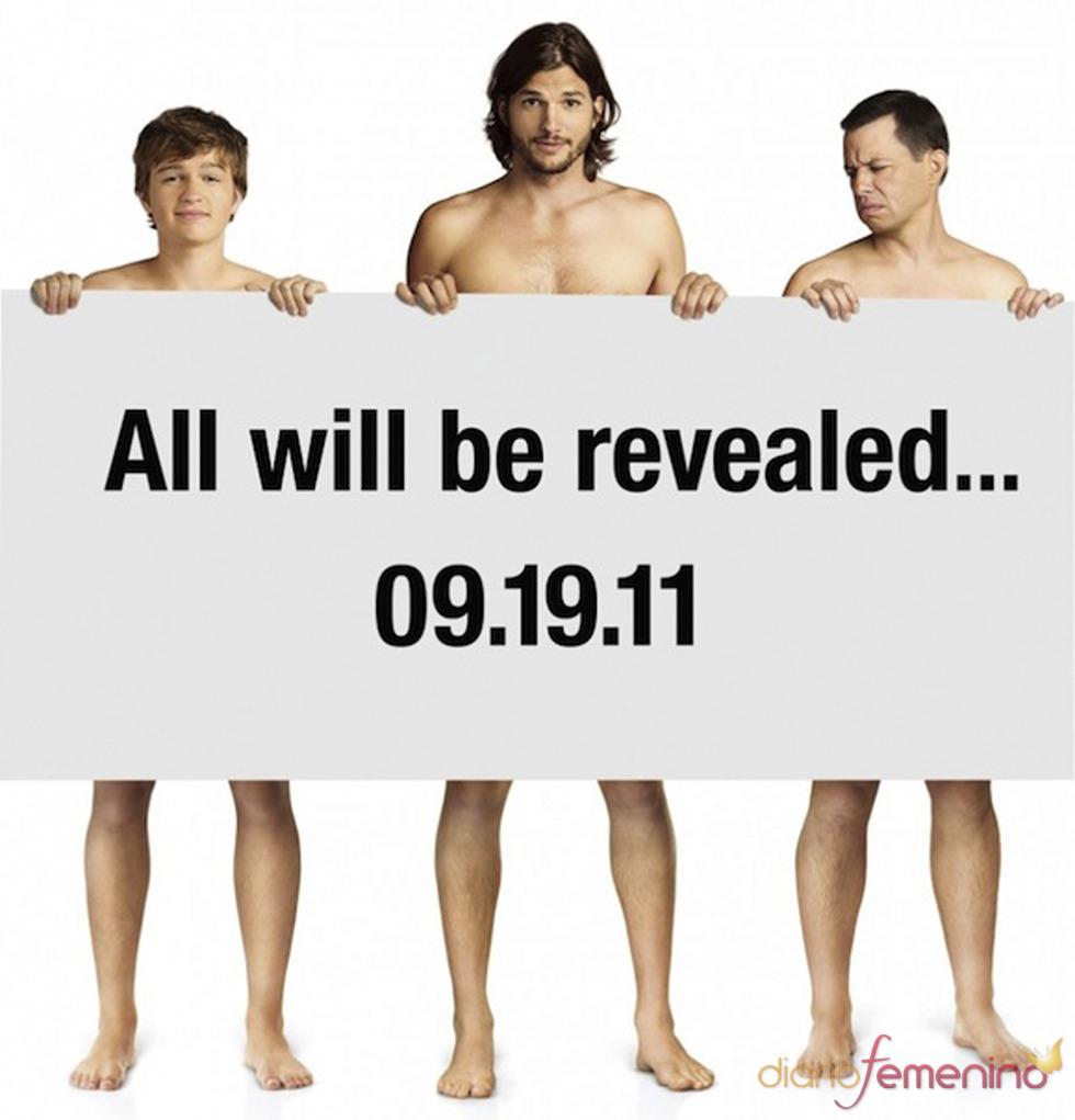Ashton Kutcher, Jon Cryer y Angus T. Jones promocionan 'Dos hombres y medio'