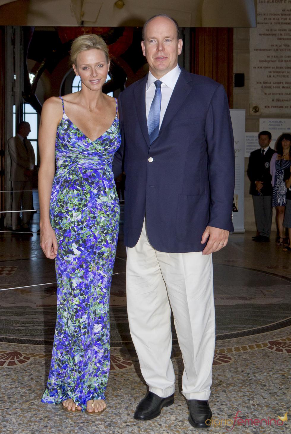 Primer acto oficial de Alberto de Mónaco y Charlene Wittstock tras su boda