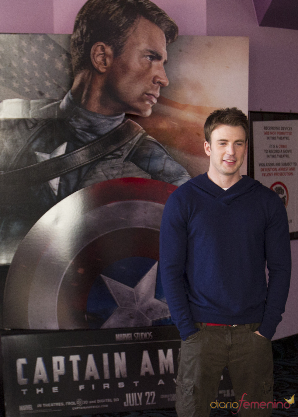 Chris Evans en el Comic Con 2011