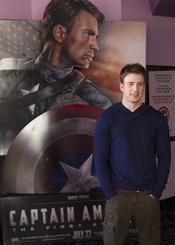 Chris Evans en el Comic Con 2011