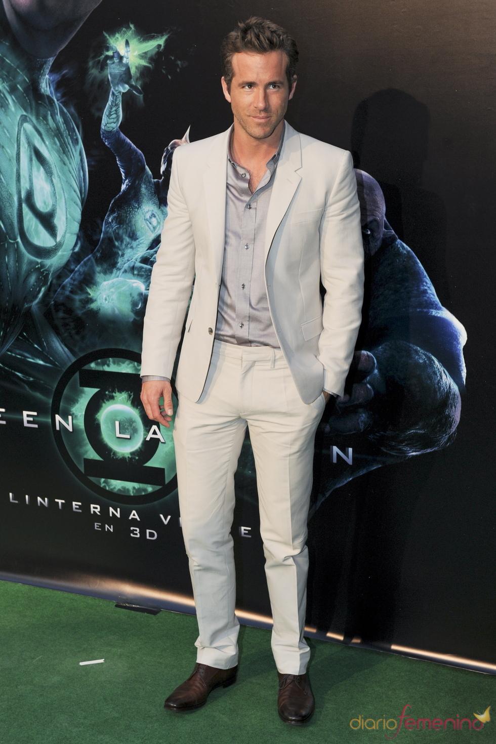 Ryan Reynolds en el estreno de 'Linterna verde' en Madrid
