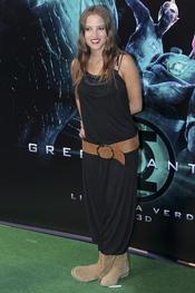Ana Fernández en el estreno de 'Linterna verde' en Madrid