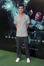 Israel Rodríguez en el estreno de 'Linterna verde' en Madrid