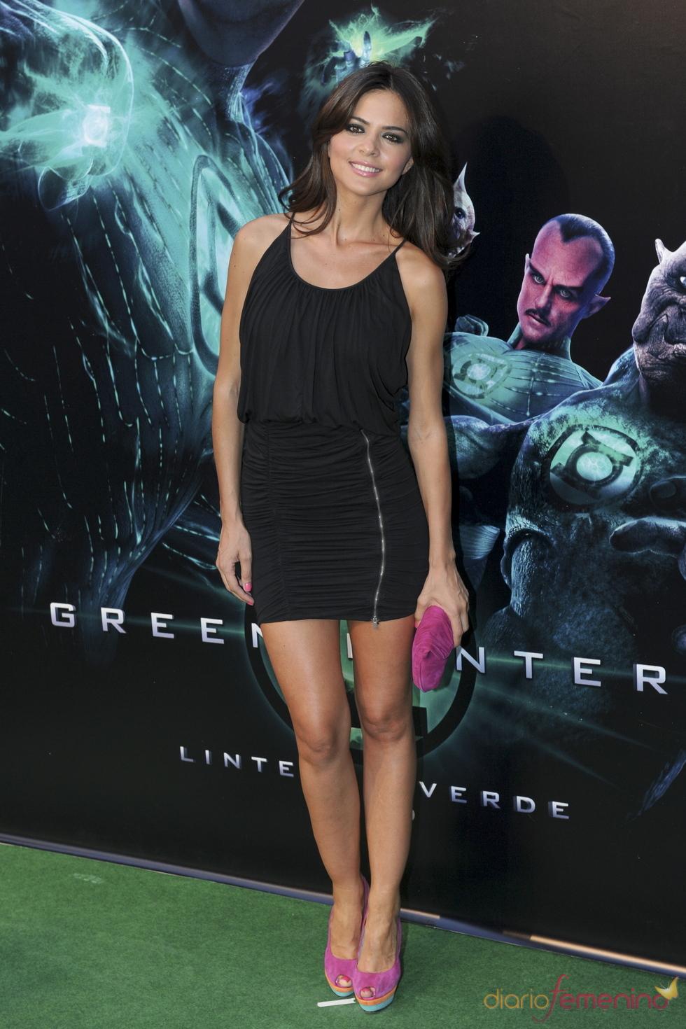 Romina Belluscio en el estreno de 'Linterna verde' en Madrid