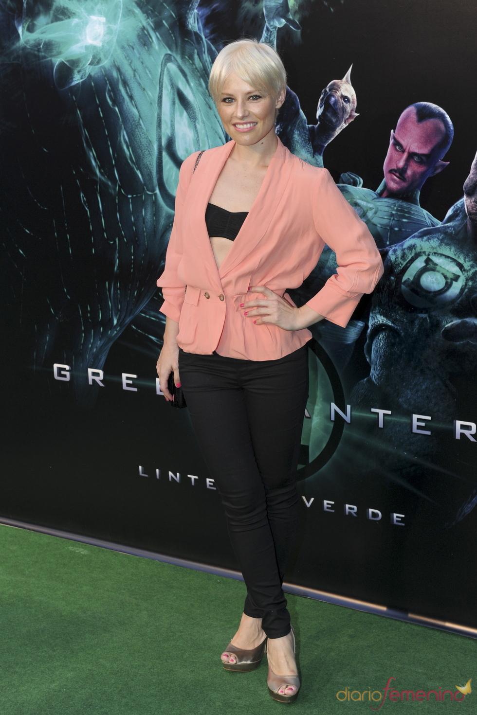 Soraya Arnelas en el estreno de 'Linterna verde' en Madrid