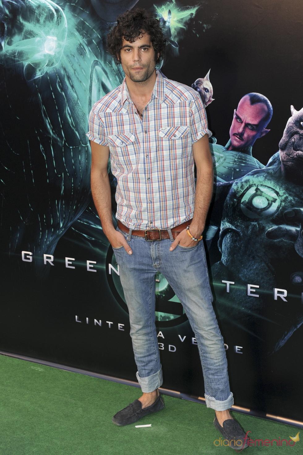 Jordi Mestre en el estreno de 'Linterna verde' en Madrid