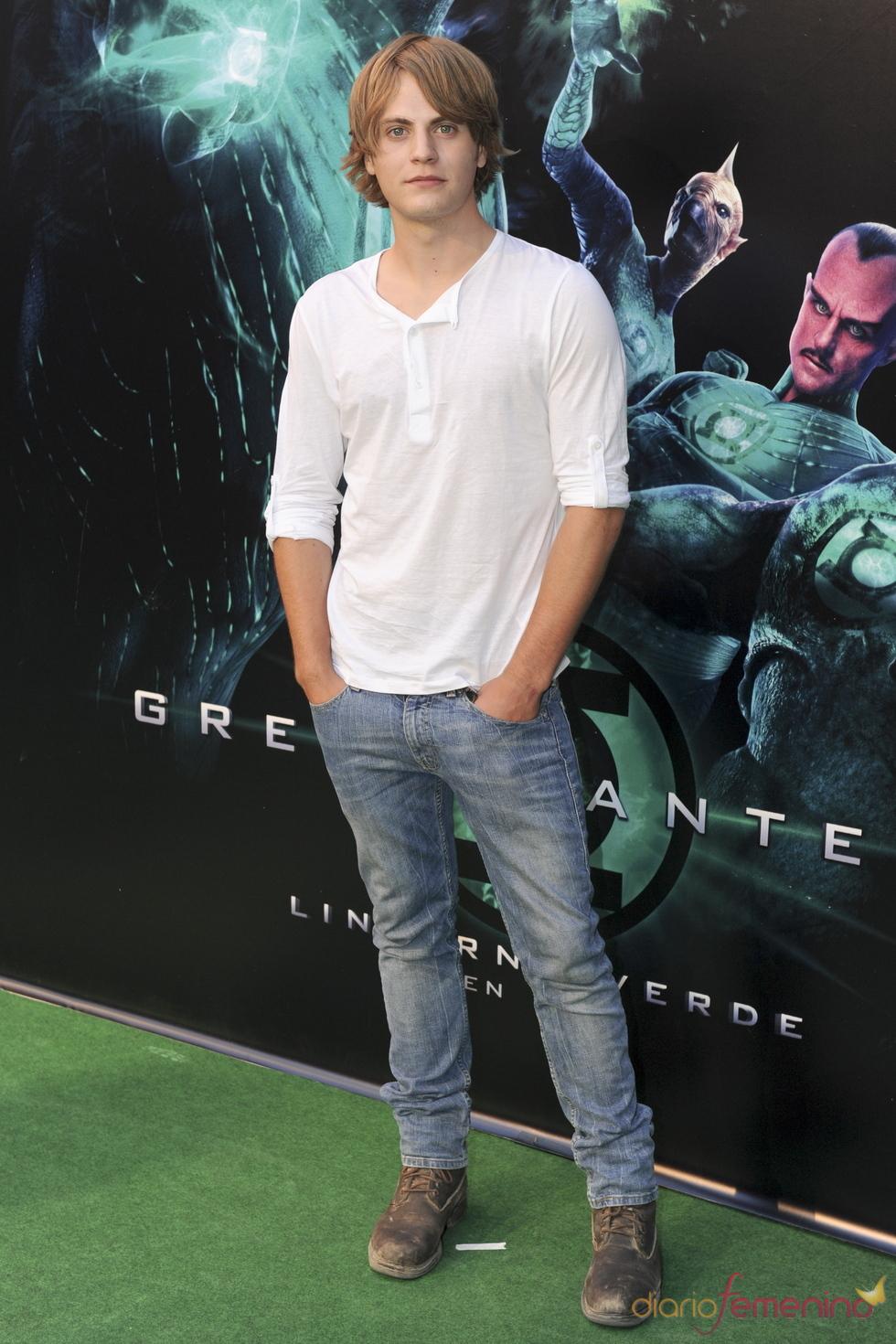 Jaime Olías en el estreno de 'Linterna verde' en Madrid
