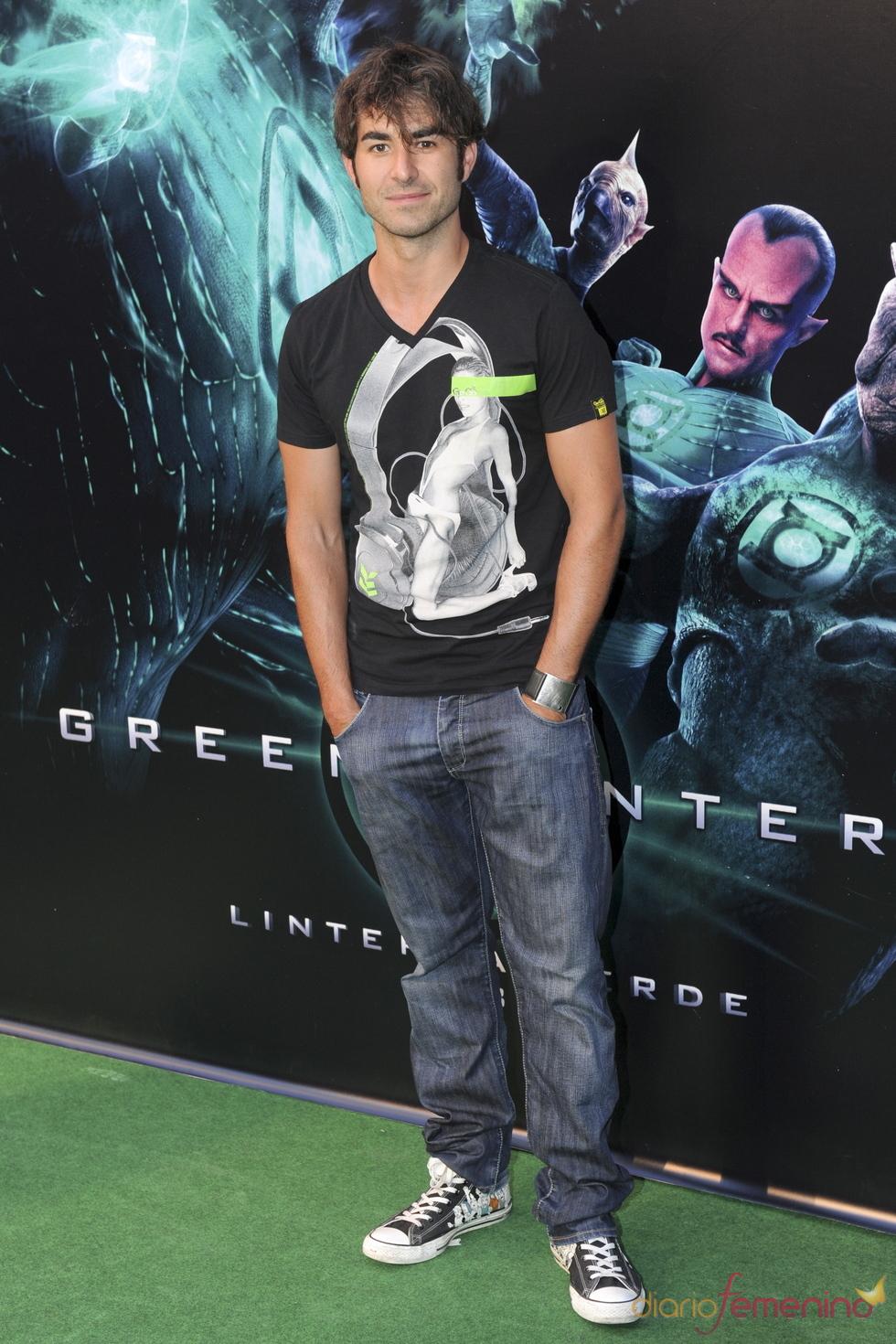Daniel Muriel en el estreno de 'Linterna verde' en Madrid