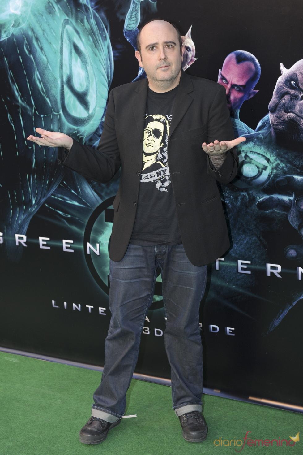 Carlos Areces en el estreno de 'Linterna verde' en Madrid