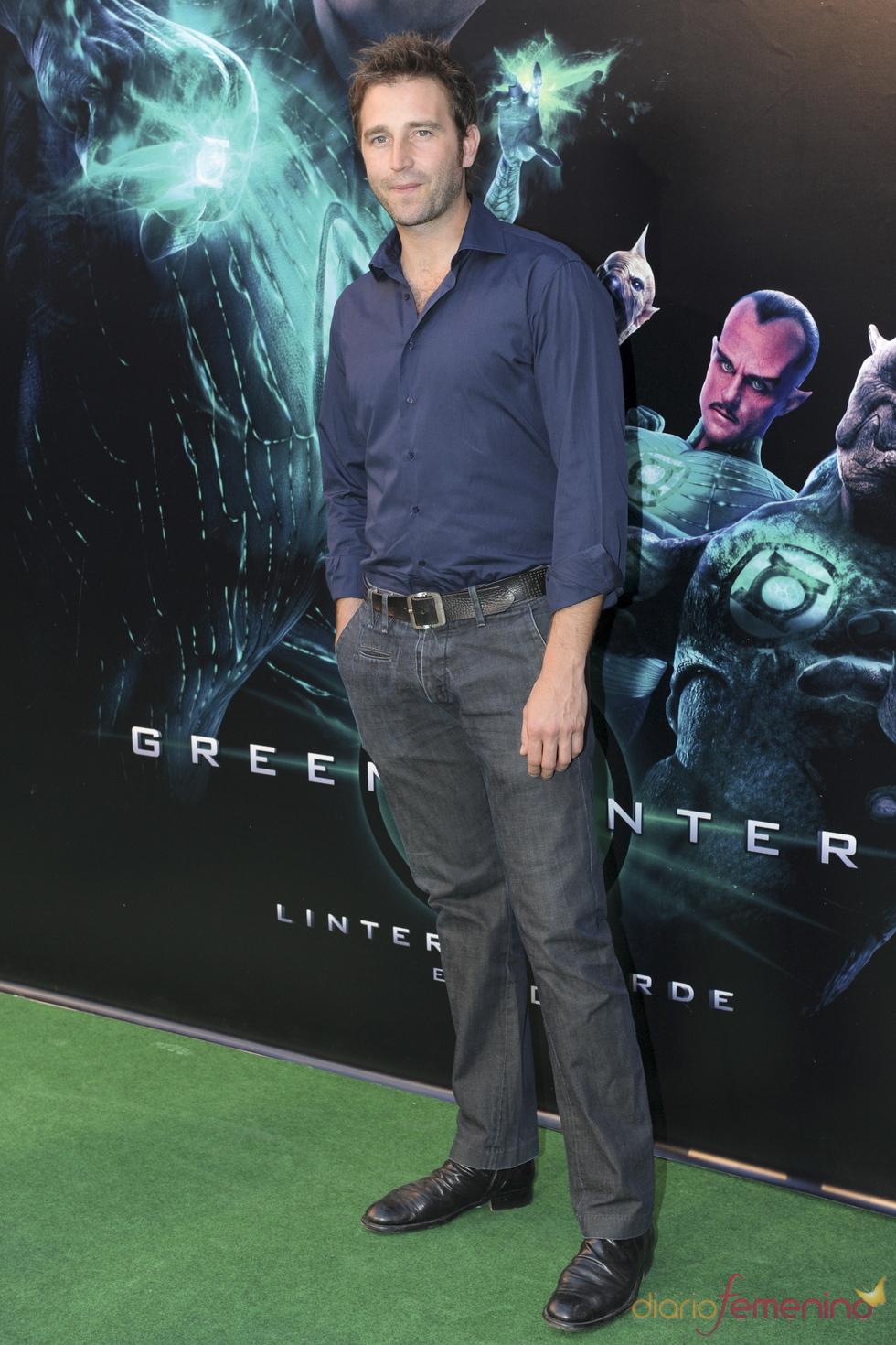 Fernando Gil en el estreno de 'Linterna verde' en Madrid