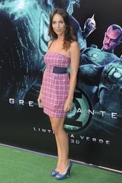 Nerea Garmendia en el estreno de 'Linterna verde' en Madrid