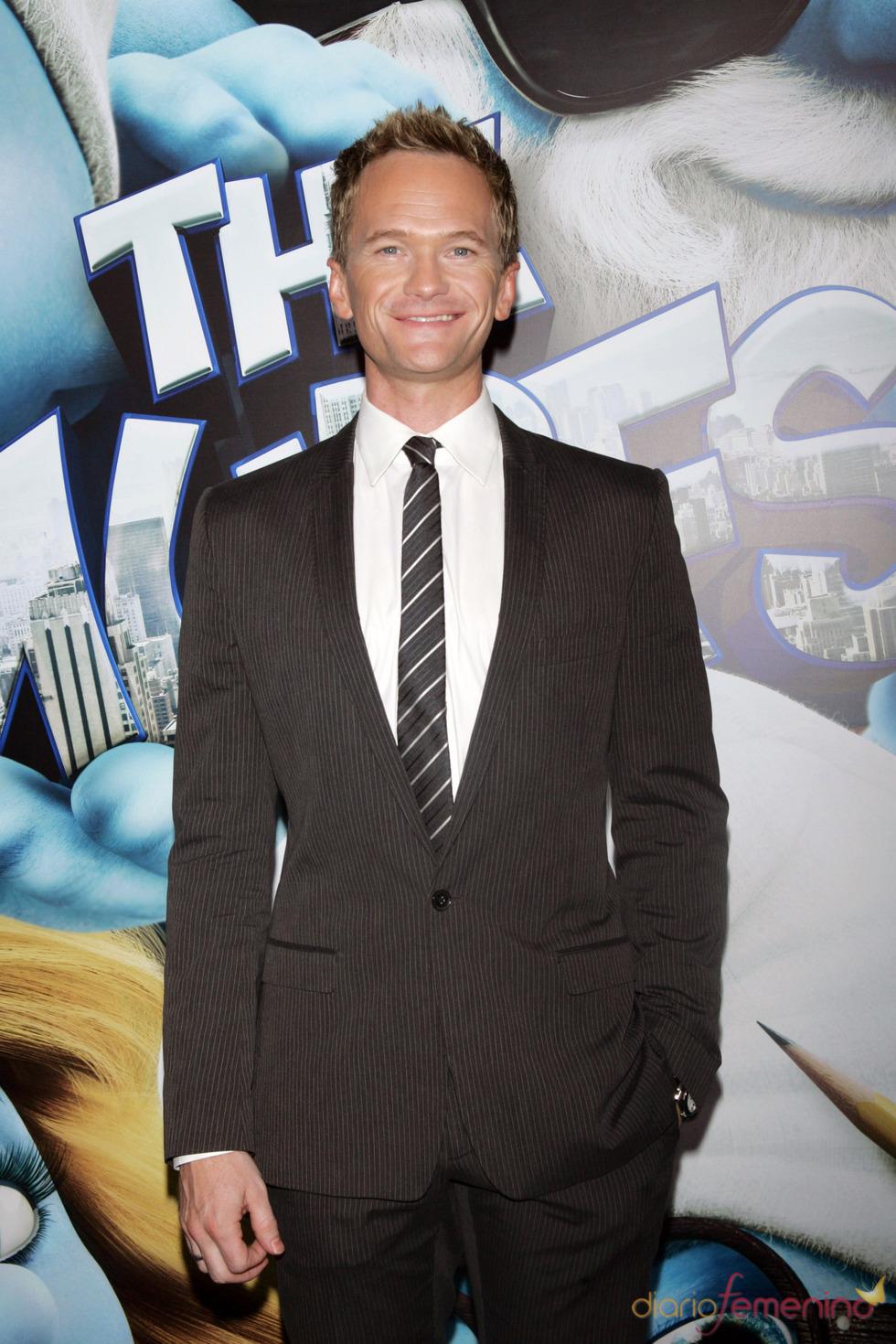Neil Patrick Harris en la alfombra azul de la premiere de 'Los Pitufos' en Nueva York