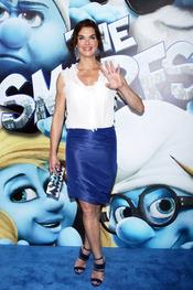 Brooke Shields en la alfombra azul de la premiere de 'Los Pitufos' en Nueva York