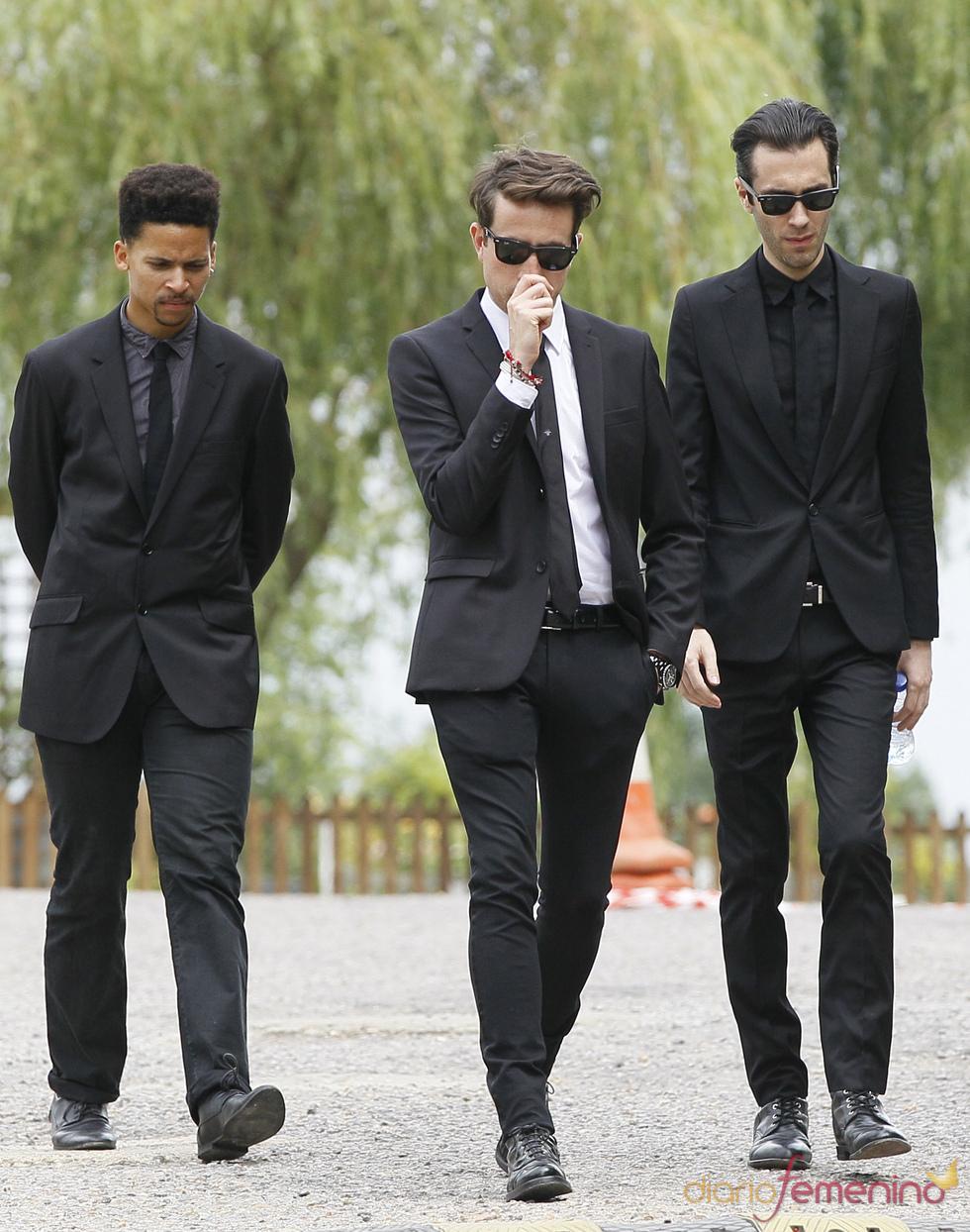 Nick Grimshaw a su salida del funeral de Amy Winehouse en Edgwarebury