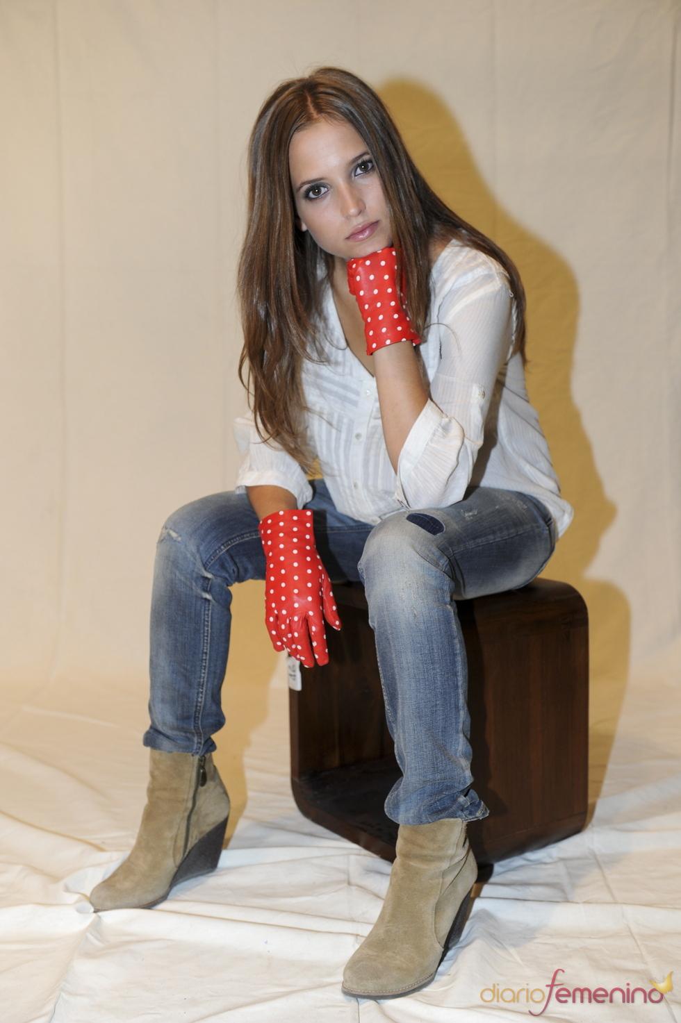 Ana Fernández durante la presentación de la tercera temporada de 'Los protegidos'