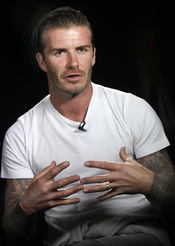 David Beckham, en una entrevista por la salida de su séptimo perfume