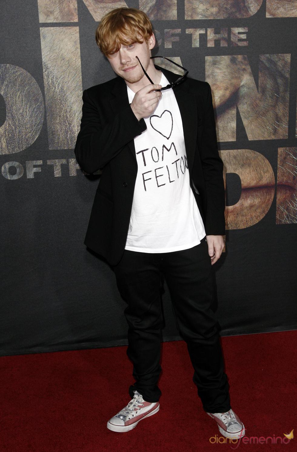 Rupert Grint en el estreno de 'El planeta de los simios' en Los Ángeles