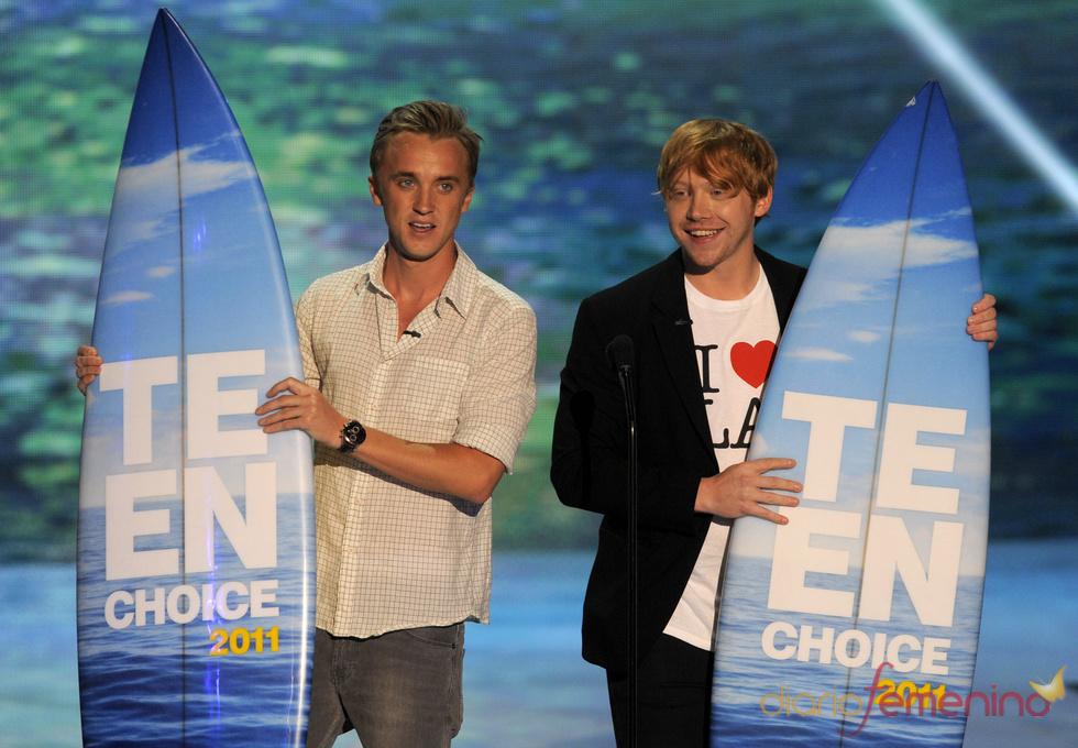 Tom Felton y Rupert Grint en la gala de los Teen Choice Awards 2011