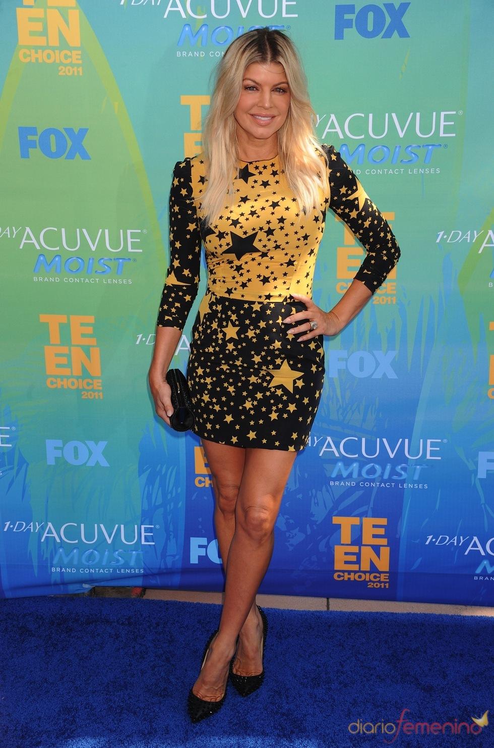 Fergie en la alfombra azul de los Teen Choice Awards 2011