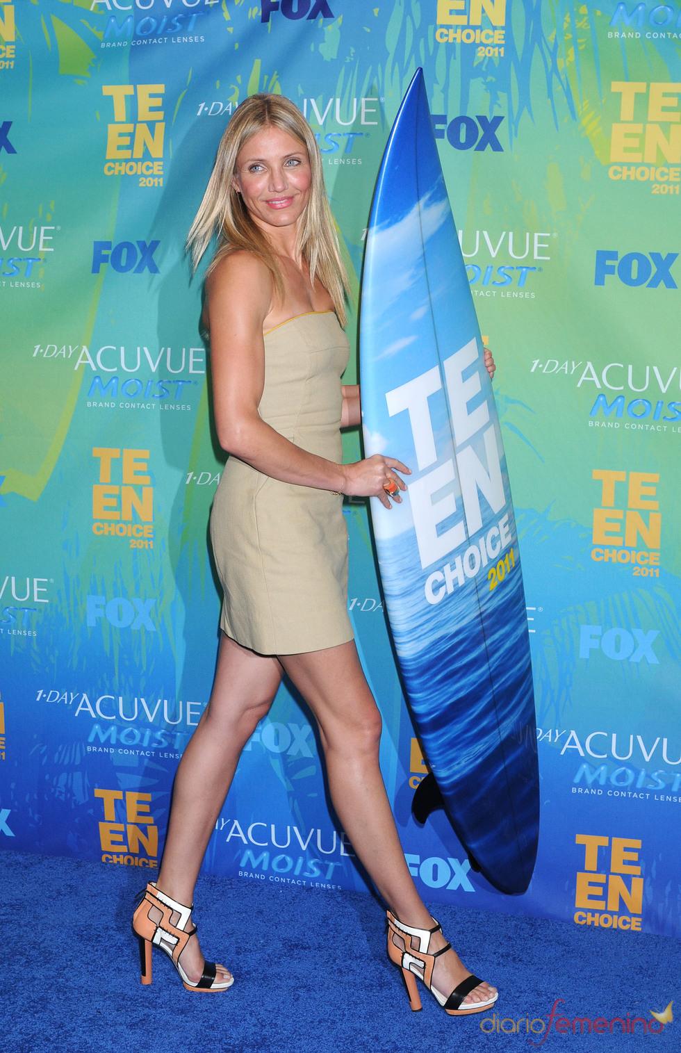 Cameron Díaz en la alfombra azul de los Teen Choice Awards 2011