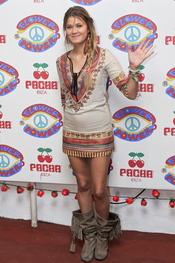 Carla Pereyra en la fiesta Flower Power en Ibiza 2011