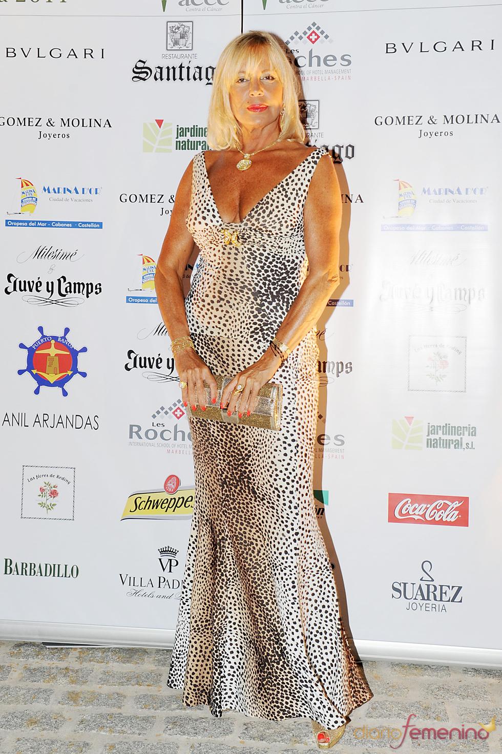 Bárbara Rey en la Gala contra el Cáncer en Marbella 2011