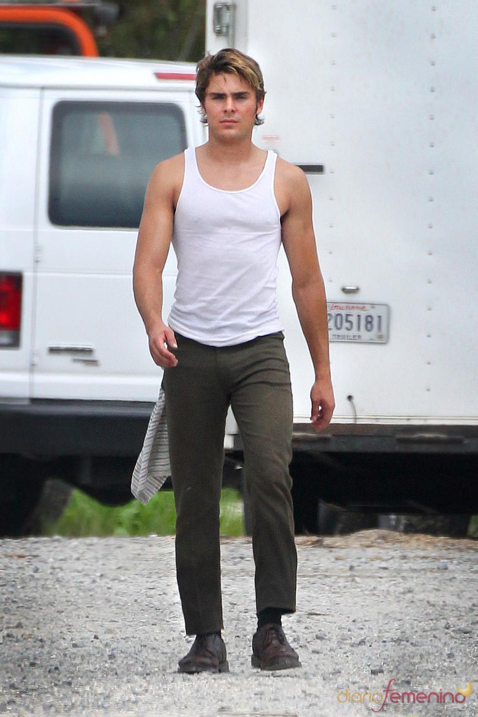 Zac Efron con su nuevo 'look' en 'Paperboy'